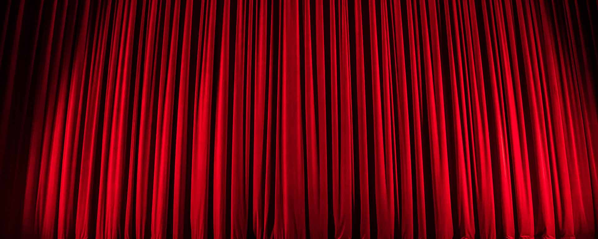 Red curtain on a stage