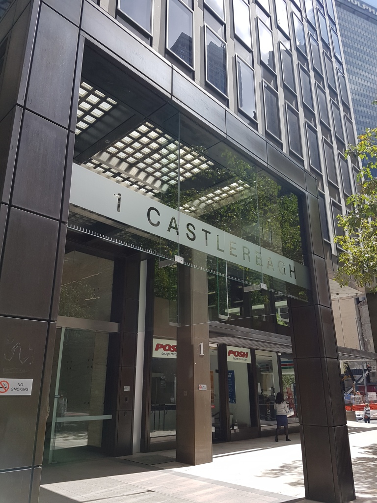 1 Castlereagh offices is a tall, modern-looking building